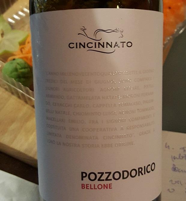 Wino do sushi - Cincinnato Pozzodorico Bellone 2013