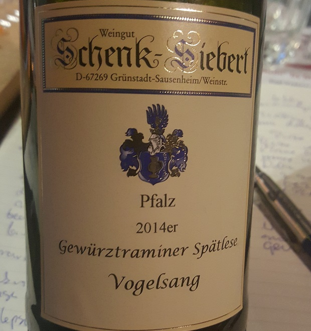 Wino do sushi - Weingut Schenk-Siebert Gewurztraminer Spätlese 2012